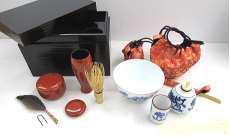 茶道具セット 茶箱入り|-