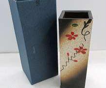 信楽焼 花瓶 花模様|信楽焼