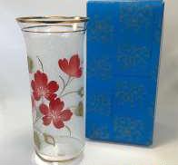 ボヘミア 花瓶 手描き フラワー|BOHEMIA
