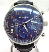 クォーツ・アナログ腕時計 WILLIAM L.
