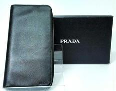 長財布 ブラック メンズ サフィアーノ レザー|PRADA