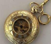 手巻き 懐中時計 バックスケルトン|AROMA