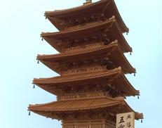 興福寺五重塔模型(完成品)|-
