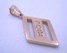 K18 ダイヤトップ 宝石付きペンダントトップ
