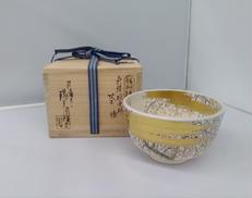 色絵枝垂桜 茶碗 膳所焼|淡海ぜぜ作