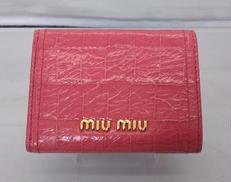 三つ折り財布|MIUMIU