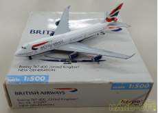 1/500 ブリティッシュ航空 Boeing747-400 HERPA WINGS