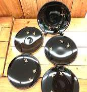 丸型銘々皿5枚セット|会津塗