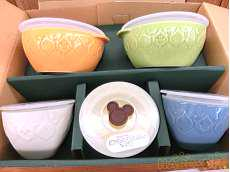 陶器タッパ付容器 DISNEY