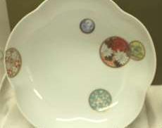 寿赤絵梅型6号鉢|深川製磁