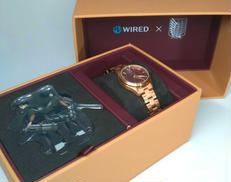 WIRED 進撃の巨人 コラボ ミカサモデル 腕時計 SEIKO