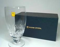 【未使用】カガミクリスタル ビアグラス KAGAMI