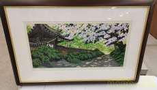 井堂雅人 大和路の四季 木版画 東京書芸館