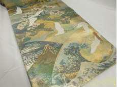 袋帯 富嶽三十六景全図|-