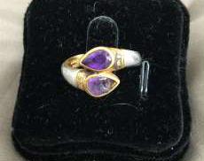 リング Pt900/K18 プラチナ 金 貴金属 宝飾品|宝石付きリング