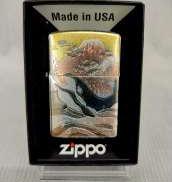 【未使用品】ZIPPO 電鋳板 ライター 鯨 富士山 デンチュウバン|ZIPPO