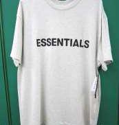 ESSENTIALS ラバーロゴTシャツ 白|ESSENTIALS