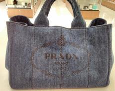 デニム地カナパ2WAYバッグ|PRADA
