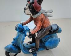 バイク犬 置物 -