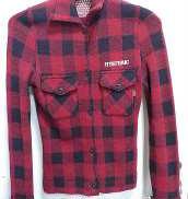 ウールチェックシャツ HYSTERIC GLAMOUR