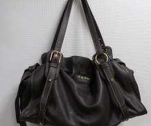 レザーリボンハンドバッグ|MIUMIU