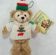 ダッフィー ぬいぐるみバッジ 2007 クリスマス セーター DISNEY